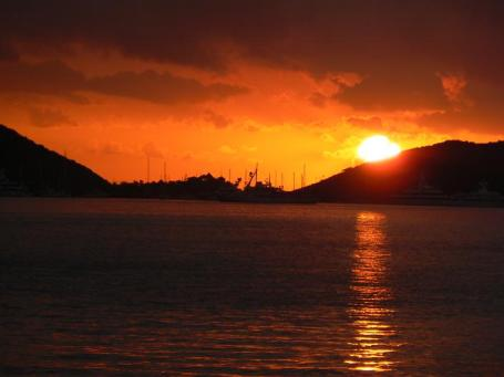 Sunrise Over Virgin Gorda