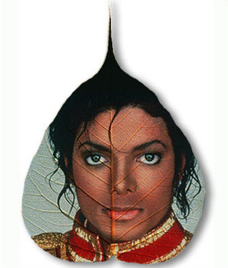 Michael Jackson Pipal Leaf from InALeaf.Com