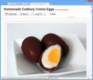 Instructables - Homemade Cadbury Creme Eggs
