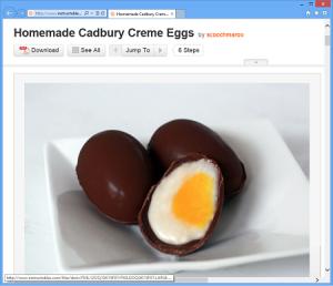 Instructables - Homemade Cadbury Creme Eggs